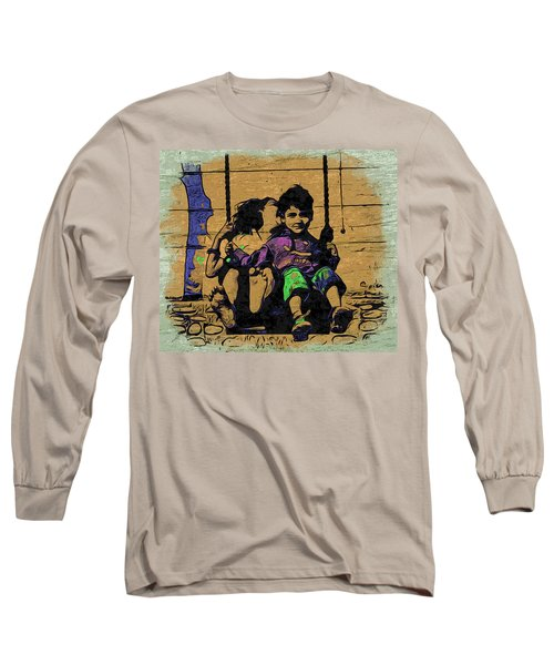 Long Sleeve T-Shirt featuring the digital art Swing Of Life by Bliss Of Art