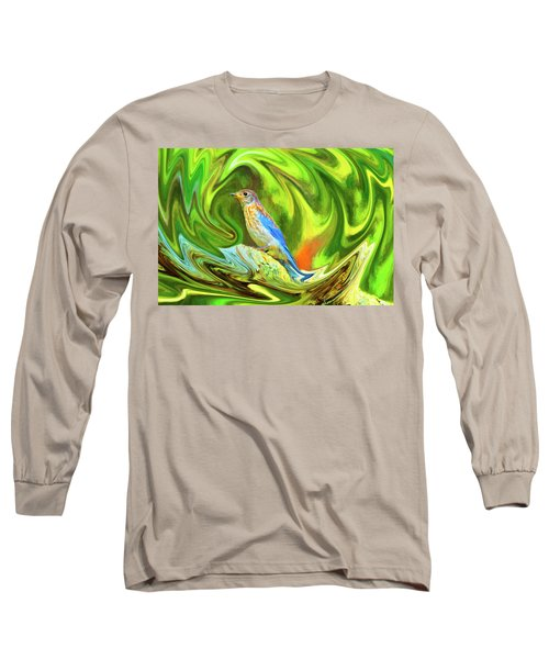 Swirling Bluebird  Long Sleeve T-Shirt