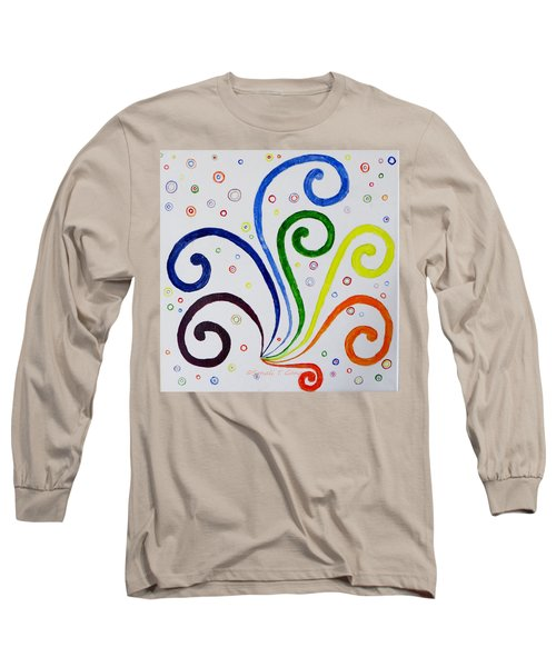Long Sleeve T-Shirt featuring the painting Swirls by Sonali Gangane