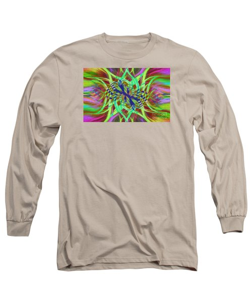 Long Sleeve T-Shirt featuring the photograph Swirly Floral Mandala 01 by Jack Torcello