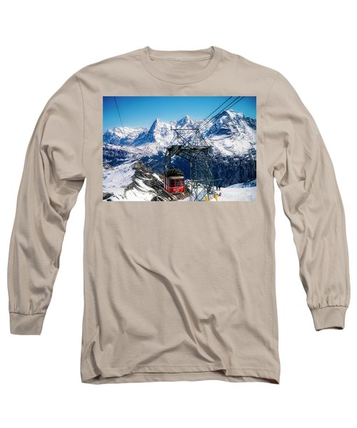 Switzerland Alps Schilthorn Bahn Cable Car  Long Sleeve T-Shirt