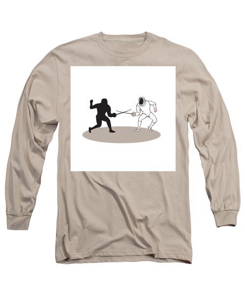 Swordsmen Fencing Isolated Cartoon Long Sleeve T-Shirt
