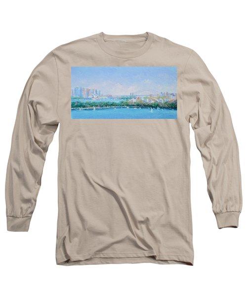 Sydney Harbour Bridge - Sydney Opera House - Sydney Harbour Long Sleeve T-Shirt by Jan Matson
