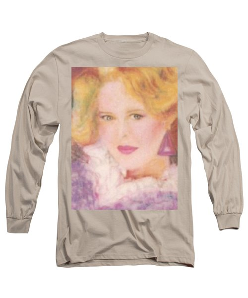 Long Sleeve T-Shirt featuring the drawing Sylvia by Denise Fulmer