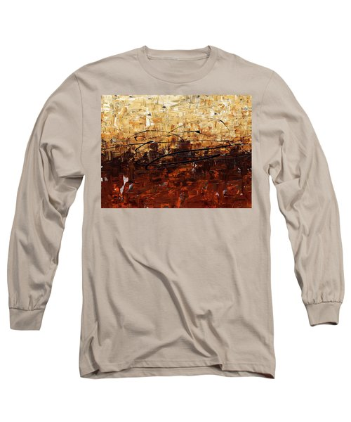 Long Sleeve T-Shirt featuring the painting Symphony by Carmen Guedez