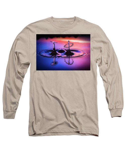 Long Sleeve T-Shirt featuring the photograph Synchronized Liquid Art by William Lee