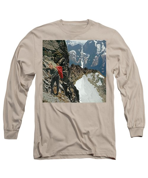 T-04403 Walt Buck Sellers On First Ascent Of Mt. Torment Long Sleeve T-Shirt