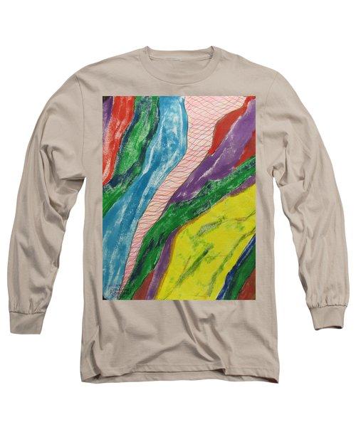 Artwork On T-shirt - 0010 Long Sleeve T-Shirt by Mudiama Kammoh