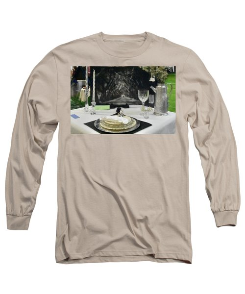 Long Sleeve T-Shirt featuring the photograph Tablescape by Helen Haw