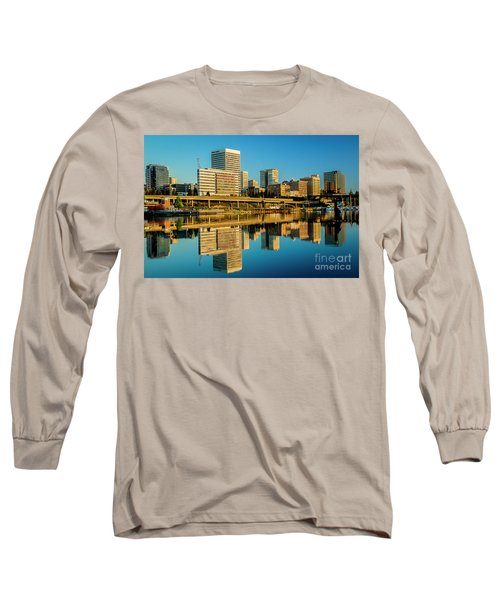Tacoma's Waterfront,washington Long Sleeve T-Shirt