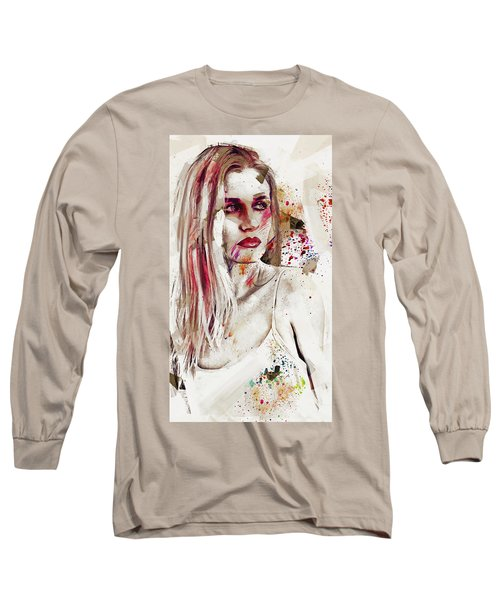 Long Sleeve T-Shirt featuring the digital art Taction by Galen Valle