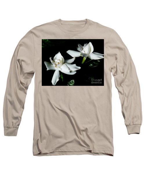Tahitian Gardenia Long Sleeve T-Shirt by Amar Sheow