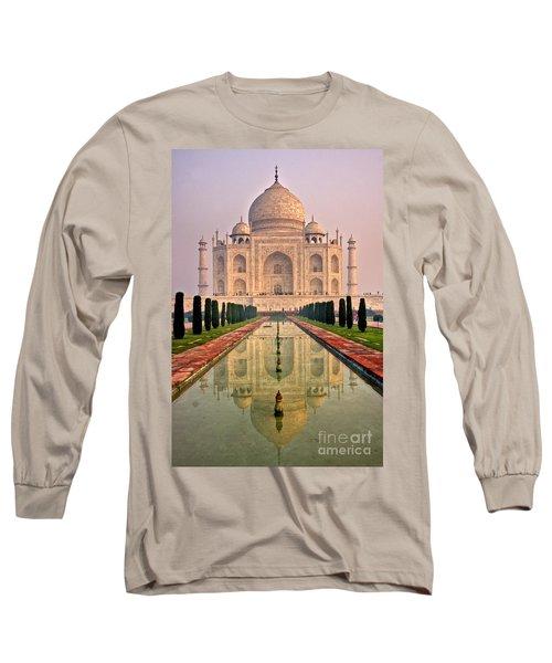 Taj Mahal At Sunrise Long Sleeve T-Shirt by Luciano Mortula