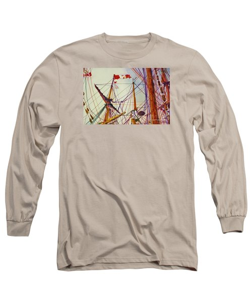 Tall Ship Lines Long Sleeve T-Shirt