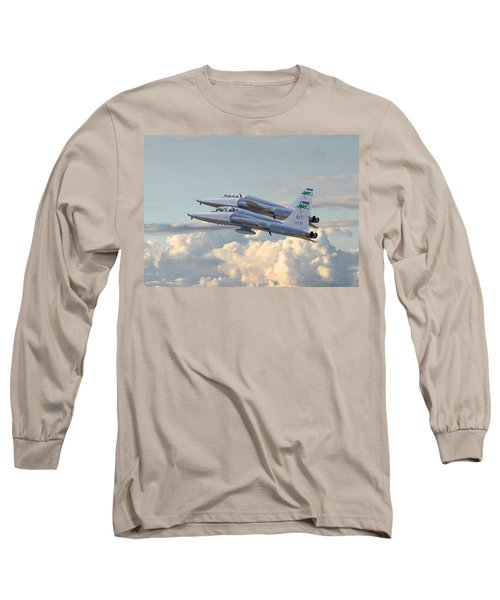 Long Sleeve T-Shirt featuring the photograph Talon T38 - Supersonic Trainer by Pat Speirs