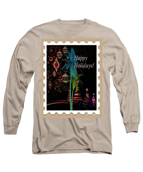 Long Sleeve T-Shirt featuring the digital art Tan Stamp by Megan Dirsa-DuBois