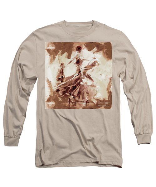Long Sleeve T-Shirt featuring the painting Tango Dance 9910j by Gull G