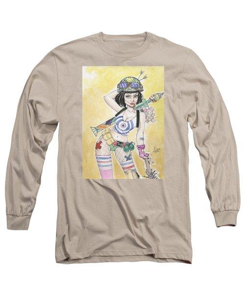 Tank Girl Long Sleeve T-Shirt by Jimmy Adams