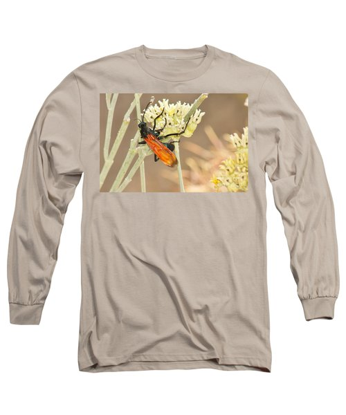 Tarantula Hawk Long Sleeve T-Shirt by Sean Griffin