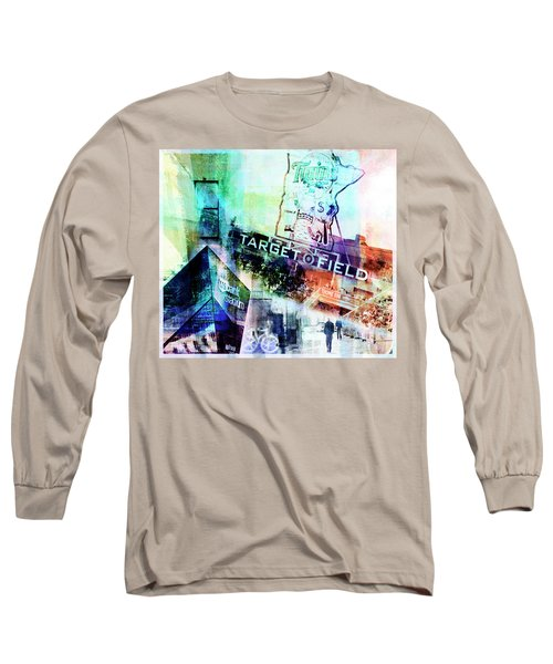 Target Field Us Bank Staduim  Long Sleeve T-Shirt by Susan Stone