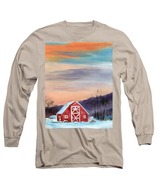 Target Range Barn Long Sleeve T-Shirt by Larry Hamilton