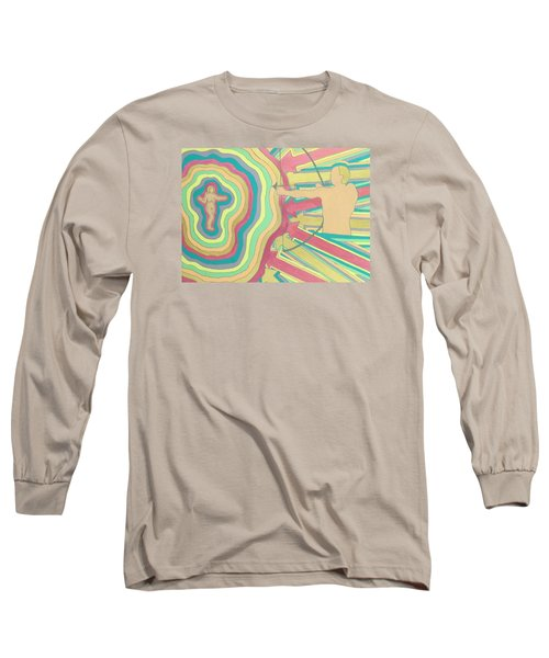 Long Sleeve T-Shirt featuring the painting Target by Erika Chamberlin