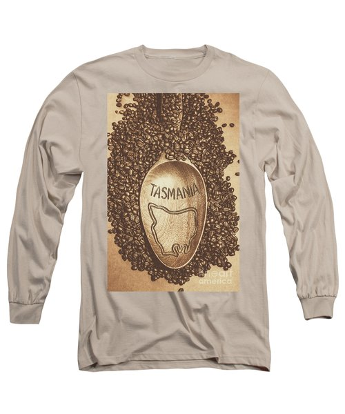 Long Sleeve T-Shirt featuring the photograph Tasmania Coffee Beans by Jorgo Photography - Wall Art Gallery