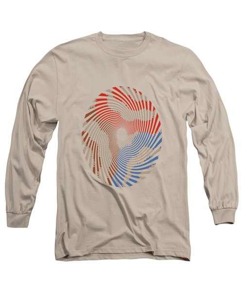 Long Sleeve T-Shirt featuring the mixed media Taupe Ring Pattern by Christina Rollo
