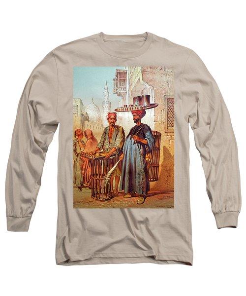 Long Sleeve T-Shirt featuring the photograph Tea Seller by Munir Alawi