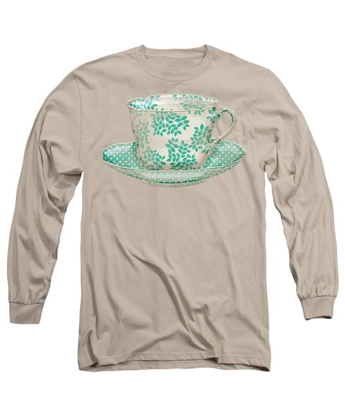 Teacup Garden Party 1 Long Sleeve T-Shirt by J Scott