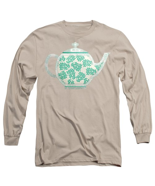 Teapot Garden Party 1 Long Sleeve T-Shirt by J Scott