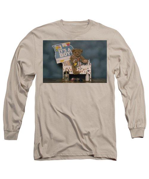 Teddy Bear - Its A Boy Long Sleeve T-Shirt