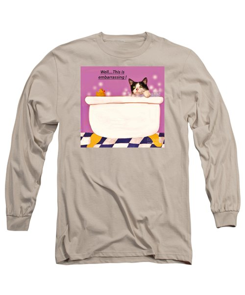 Teddy The Ninja Cat Up Close And Personal Long Sleeve T-Shirt