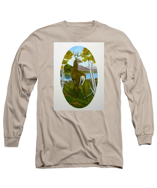 Teddy's Deer Long Sleeve T-Shirt by Sheri Keith