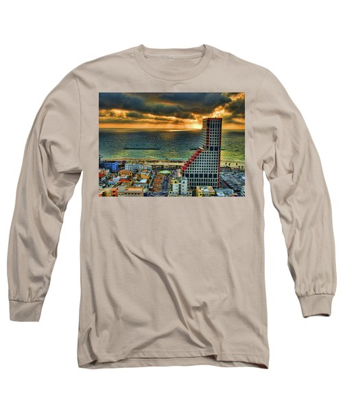 Long Sleeve T-Shirt featuring the photograph Tel Aviv Lego by Ron Shoshani
