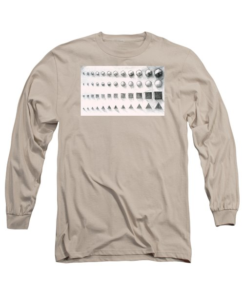 Long Sleeve T-Shirt featuring the drawing Template by James Lanigan Thompson MFA