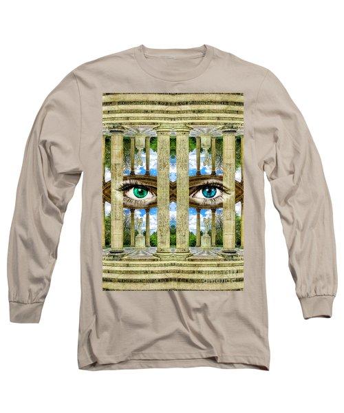 Temple Of Love Petit Trianon Versailles Palace Paris Long Sleeve T-Shirt