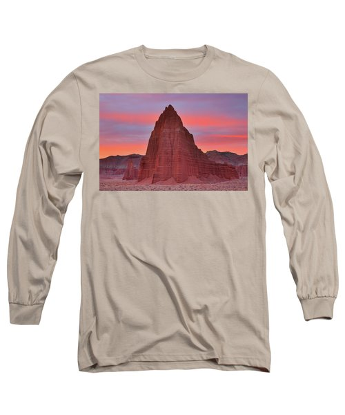 Temple Of The Sun And Moon At Sunrise At Capitol Reef National Park Long Sleeve T-Shirt