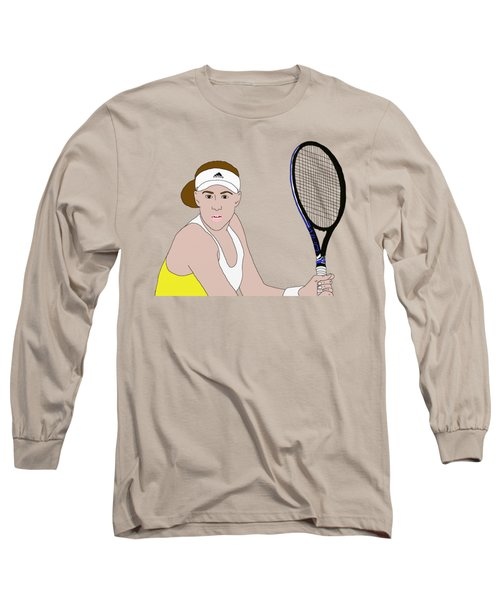 Tennis Player Long Sleeve T-Shirt by Priscilla Wolfe