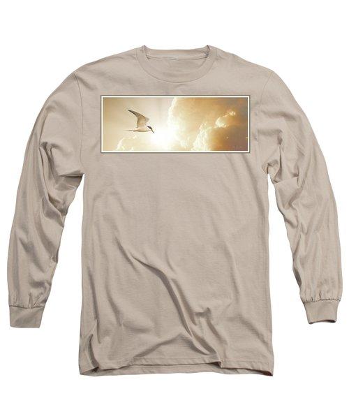Tern In Flight, Spiritual Light Of Dusk Long Sleeve T-Shirt