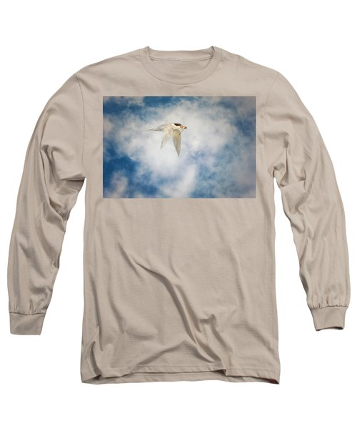 Tern In Flight With Fish Long Sleeve T-Shirt