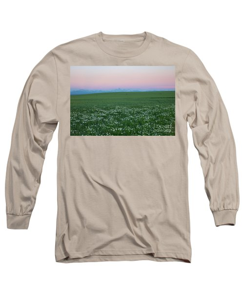 Tetons With Daisies Long Sleeve T-Shirt