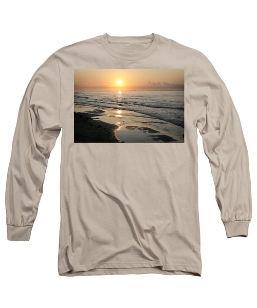 Texas Gulf Coast At Sunrise Long Sleeve T-Shirt by Marilyn Hunt