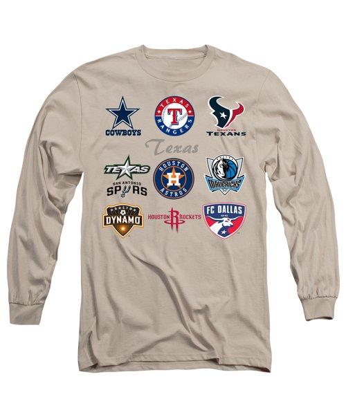 Texas Professional Sport Teams Long Sleeve T-Shirt