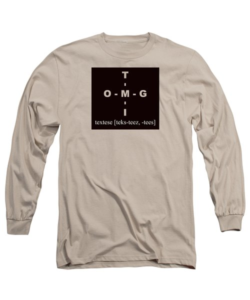 Textese Long Sleeve T-Shirt