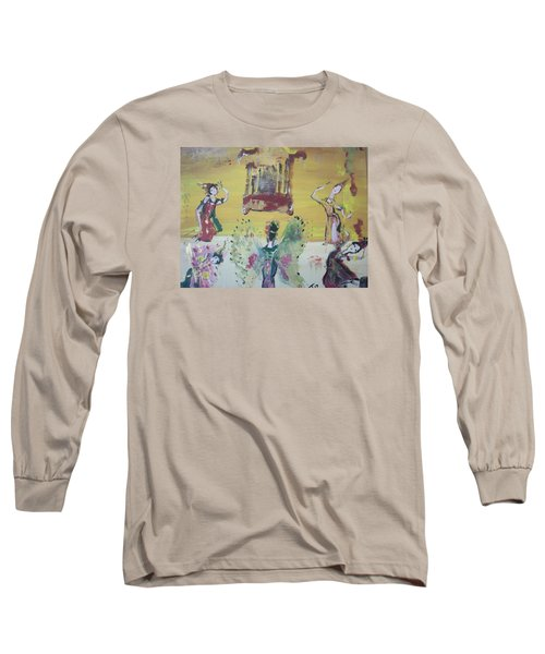 Thai Butterfly Dance Long Sleeve T-Shirt by Judith Desrosiers