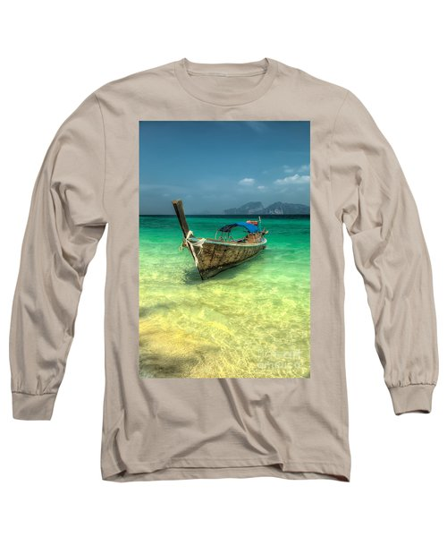 Thai Longboat  Long Sleeve T-Shirt by Adrian Evans