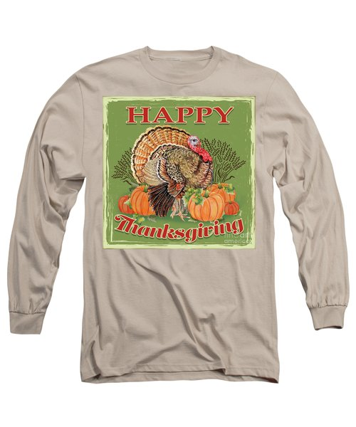 Long Sleeve T-Shirt featuring the painting Thanksgiving-b by Jean Plout