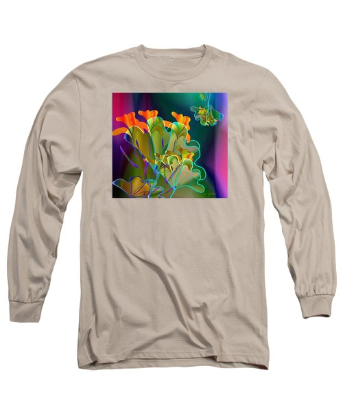 Thanksgiving Bouquet Long Sleeve T-Shirt by Iris Gelbart