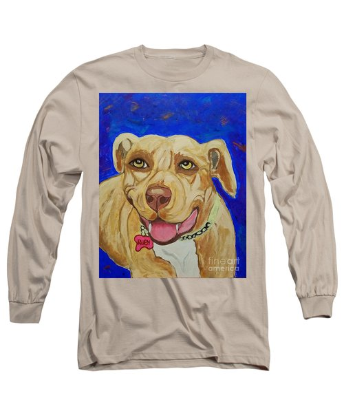 Long Sleeve T-Shirt featuring the painting That Smile by Ania M Milo